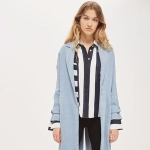 topshop woven duster trench coat